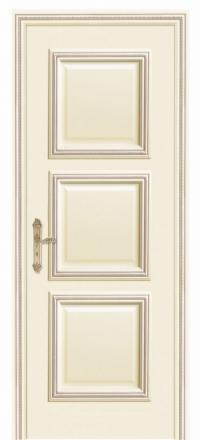 Межкомнатная дверь Дариано Корфу Слоновая кость глухая