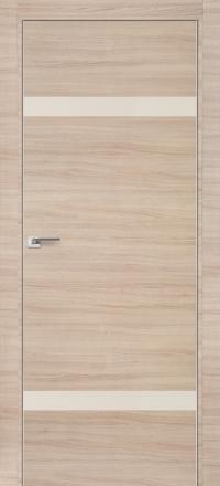 Межкомнатная дверь ПрофильДорс 3Z кромка хром цвет Капучино кроскут стекло перламутровый лак