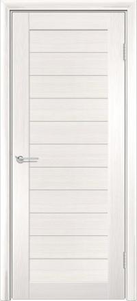 Межкомнатная дверь Содружество царговая (ПВХ) S-7 Лиственница беленая глухая