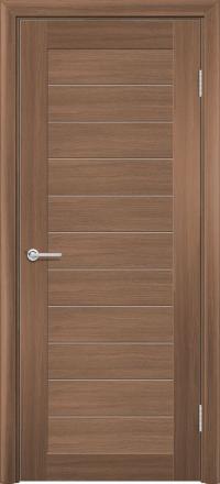 Межкомнатная дверь Содружество царговая (ПВХ) S-7 Орех королевский глухая