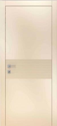 Межкомнатная дверь Офрам Лайн эмаль кремовая глухое полотно