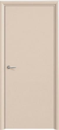 Межкомнатная дверь Офрам модель 1001К эмаль слоновая кость глухое полотно