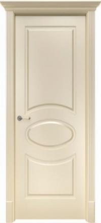 Межкомнатная дверь Офрам Оливия кремовая глухое полотно