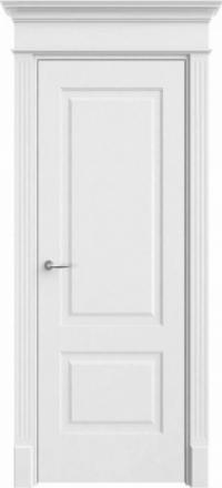 Межкомнатная дверь Офрам Прима-2 белая глухое полотно