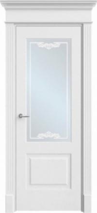 Межкомнатная дверь Офрам Прима-2 белая остекленная