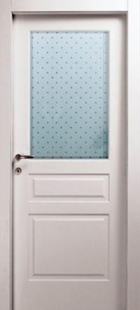Межкомнатная дверь Офрам Прима-3 белая остекленная
