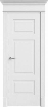 Межкомнатная дверь Офрам Прима-32 белая глухое полотно