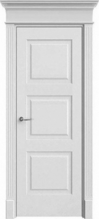 Межкомнатная дверь Офрам Прима-33 белая глухое полотно