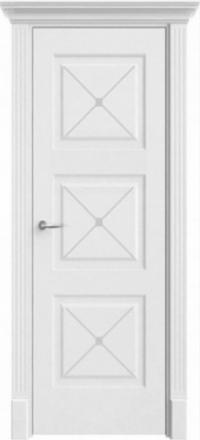 Межкомнатная дверь Офрам Прима-33Ф белая глухое полотно