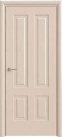 Межкомнатная дверь Офрам Прима-4 кремовая глухое полотно