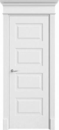 Межкомнатная дверь Офрам Прима-42 белая глухое полотно