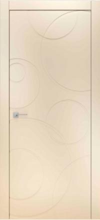 Межкомнатная дверь Офрам Риплс эмаль кремовая глухое полотно