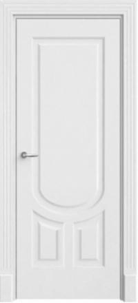 Межкомнатная дверь Офрам Уно белая глухое полотно