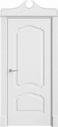 Межкомнатная дверь Офрам Версаль белая глухое полотно