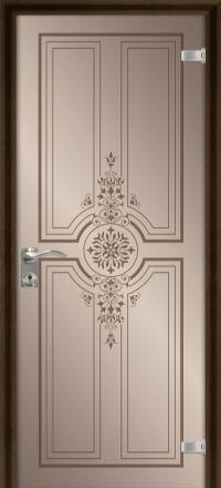 Межкомнатная дверь Дариано Барокко венге стеклянная