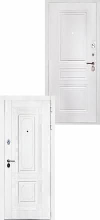 Стальная входная дверь Интекрон Брайтон белая ФЛ-243-м белая матовая