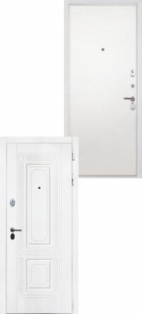 Стальная входная дверь Интекрон Брайтон белая Силк сноу