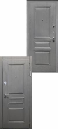 Стальная входная дверь Интекрон Брайтон ФЛ-243-м Графит вуд дуб