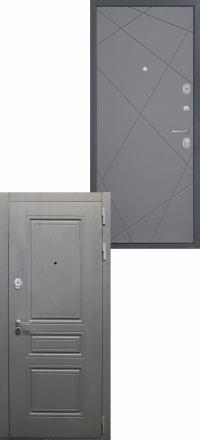 Стальная входная дверь Интекрон Брайтон Лучи графит