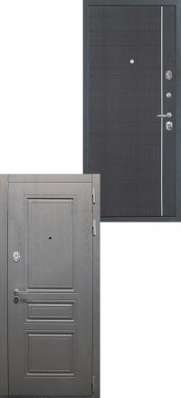 Стальная входная дверь Интекрон Брайтон В-07 Венге