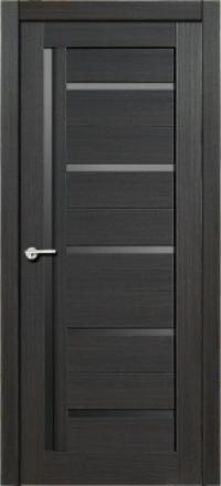 Межкомнатная дверь Porta Bella Эко Flex Дана графит остекленная