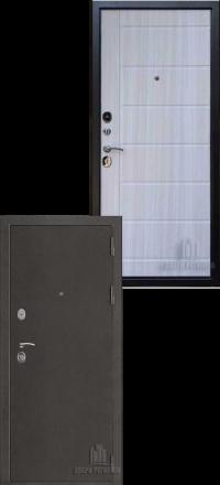 Металлическая входная дверь Regidoors Галеон антик темное серебро-сандал светлый