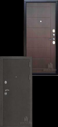 Металлическая входная дверь Regidoors Галеон антик темное серебро-венге