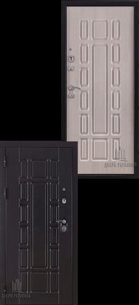 Металлическая входная дверь Regidoors Консул венге-беленый дуб