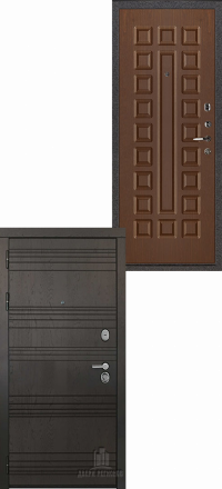 Металлическая входная дверь Regidoors Министр Горький шоколад — Оорех темный стандарт