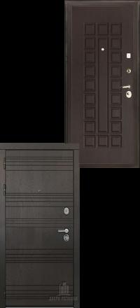 Металлическая входная дверь Regidoors Министр Горький шоколад —  Венге стандарт