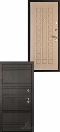 Металлическая входная дверь Regidoors Министр Горький шоколад — Беленый дуб стандарт