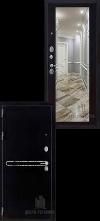 Металлическая входная дверь Regidoors Президент S1Z антик графит с блестками-венге с зеркалом