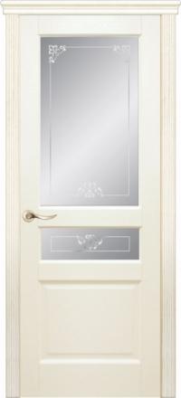 Межкомнатная дверь Дариано Бостон Ясень карамель со стеклом