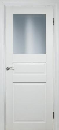 Межкомнатная дверь La Porte Neo 147 эмаль белая остекленная
