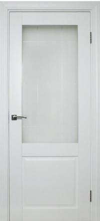 Межкомнатная дверь La Porte Neo 140 эмаль белая остекленная