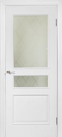 Межкомнатная дверь La Porte Neo 158 эмаль белая остекленная