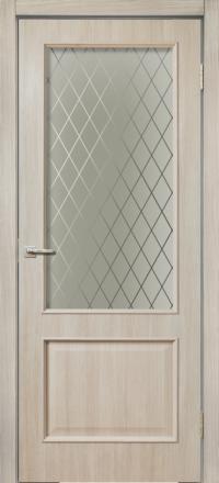 Межкомнатная дверь La Porte Rossi 320 Сандал белый остекленная