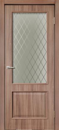 Межкомнатная дверь La Porte Rossi 320 Шимо темный остекленная