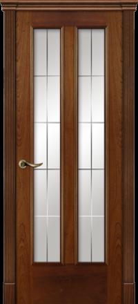 Межкомнатная дверь La Porte Classic 300-8 красное дерево гравировка Классика