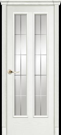 Межкомнатная дверь La Porte Classic 300-8 Ясень бланко гравировка Классика