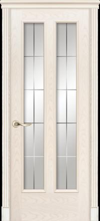 Межкомнатная дверь La Porte Classic 300-8 Ясень Карамель гравировка Классика