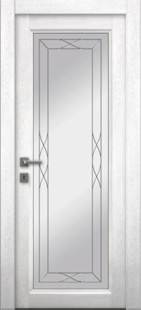 Межкомнатная дверь La Porte Master 400-1 Аляска стекло Римини