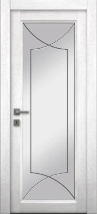 Межкомнатная дверь La Porte Master 400-1 Аляска гравировка Софт