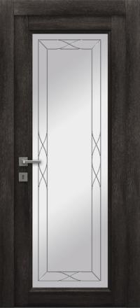 Межкомнатная дверь La Porte Master 400-1 Конго стекло Римини