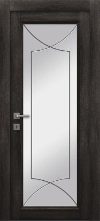 Межкомнатная дверь La Porte Master 400-1 Конго гравировка Софт