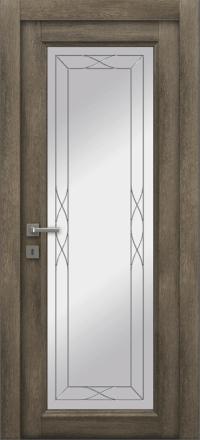 Межкомнатная дверь La Porte Master 400-1 Табакко стекло Римини