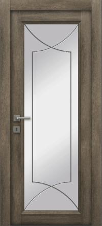 Межкомнатная дверь La Porte Master 400-1 Табакко гравировка Софт