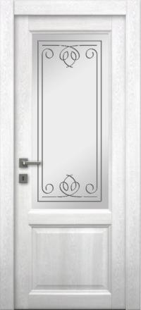 Межкомнатная дверь La Porte Master 400-2 Аляска гравировка Вега