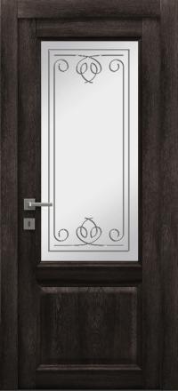 Межкомнатная дверь La Porte Master 400-2 Конго гравировка Вега