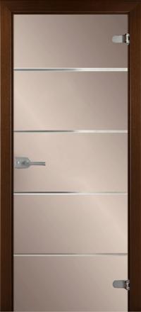 Межкомнатная дверь La Porte Glass 500-2 бронзовое стекло